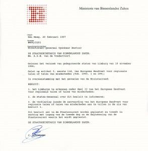 Erkenningsbrief (klik op de afbeelding voor een vergroting)